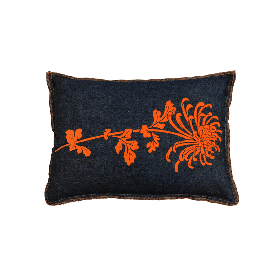 Denim Flocked Mum Pillow