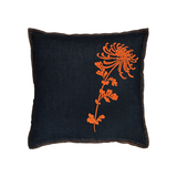 Denim Flocked Mum Pillow 18x18