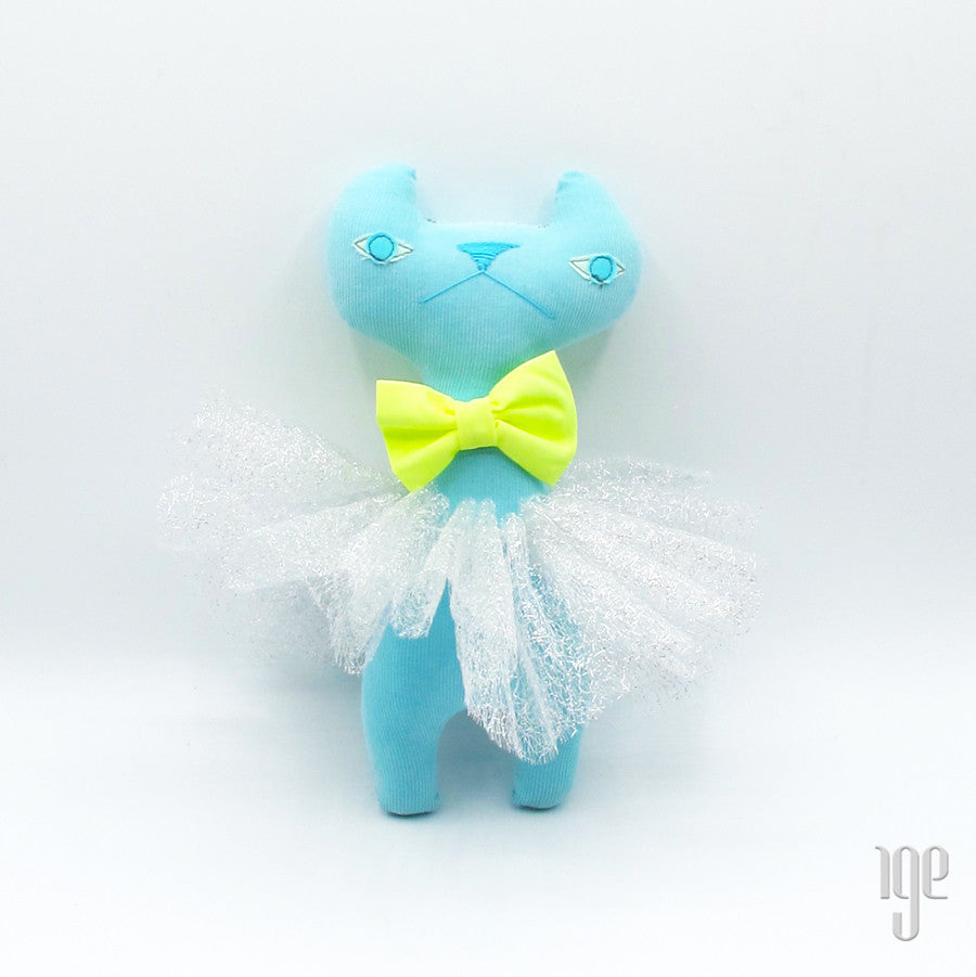 H Luv Cat with Tutu | Light Blue