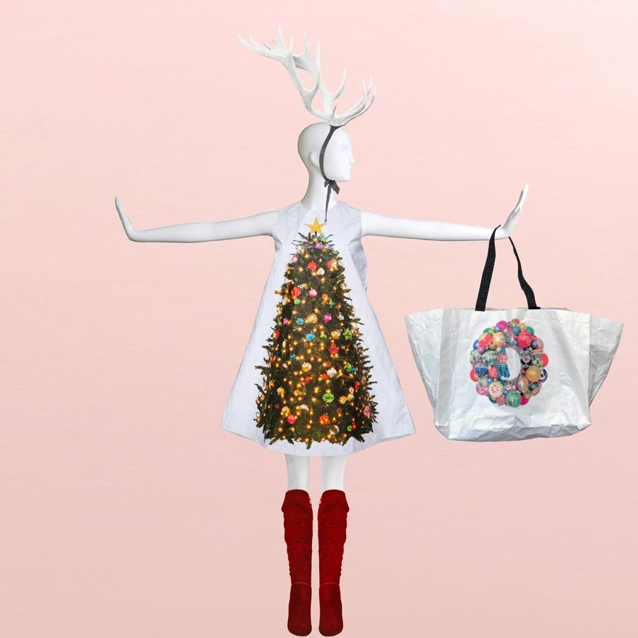 Holiday Hauler Paper Wreath Totes