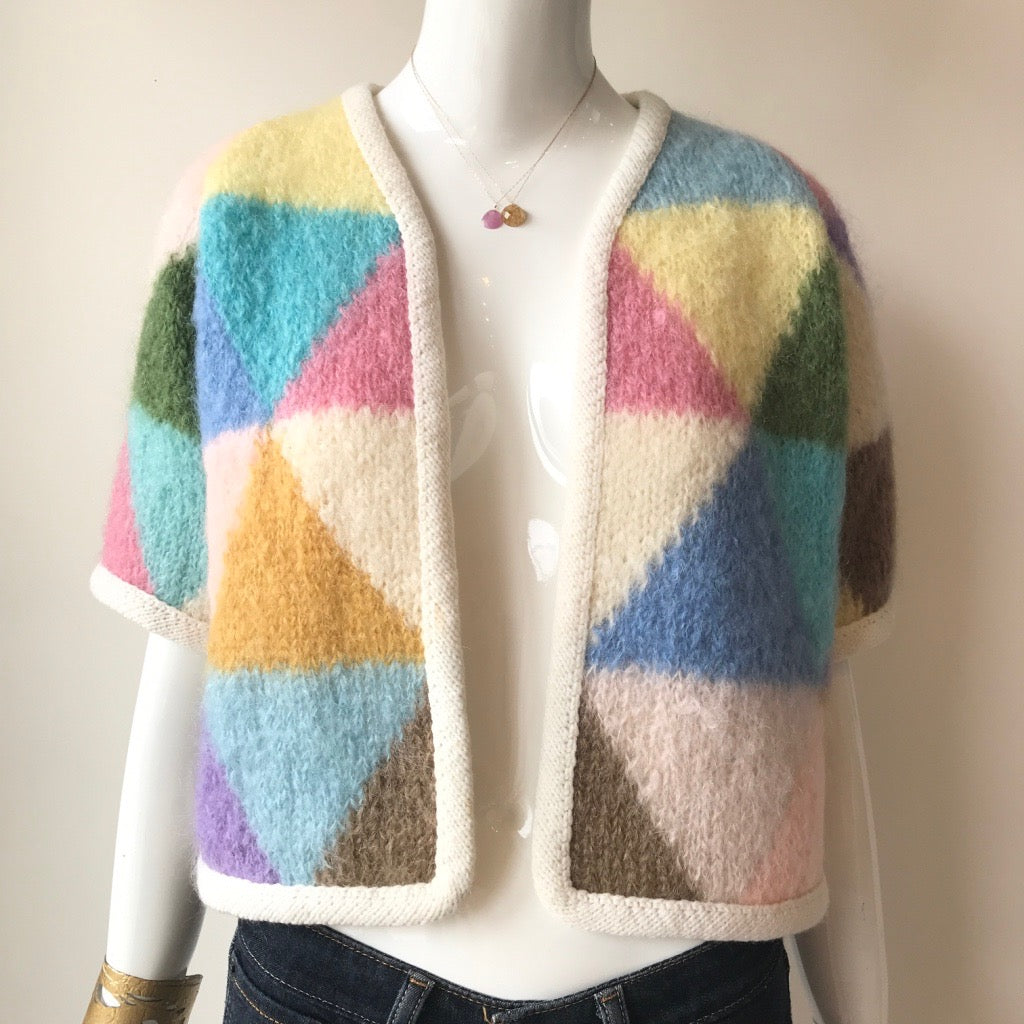 80's Triangular Hand Knit Sweater | One of a Kind