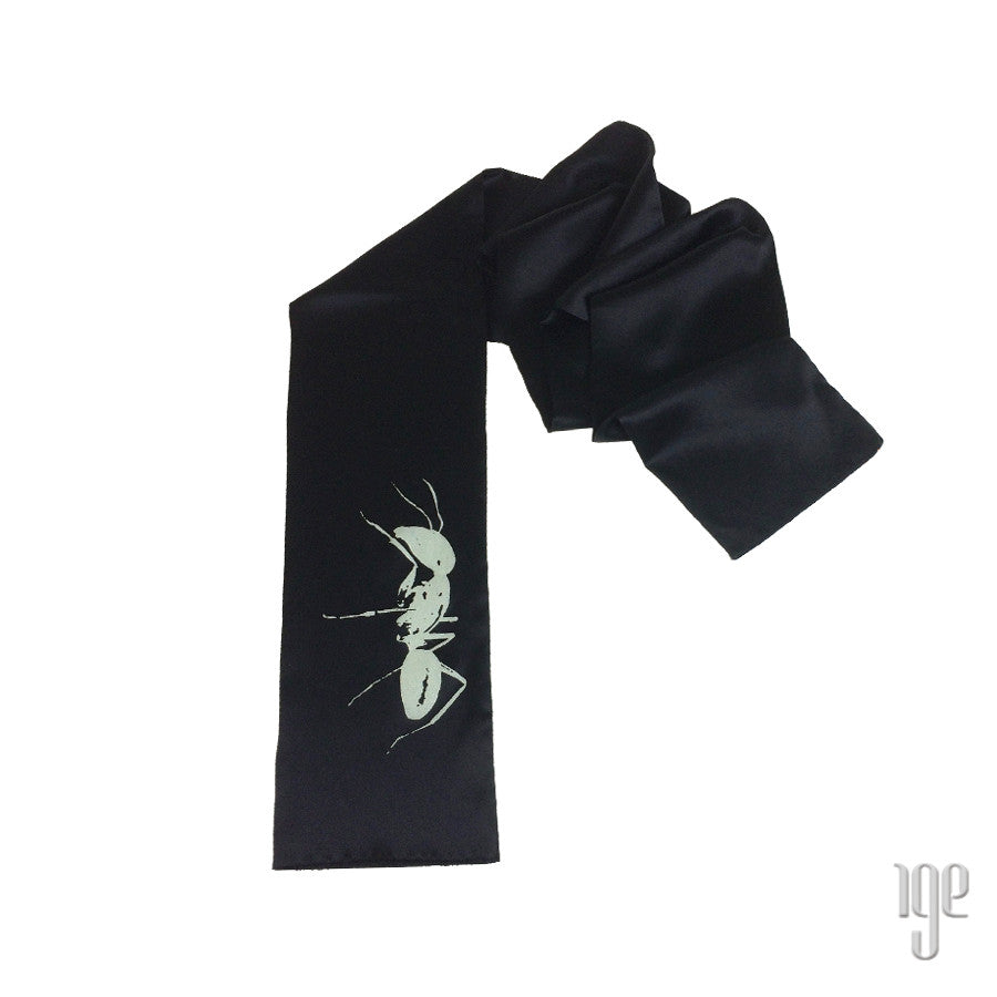 Silk Ant Silhouette Scarf