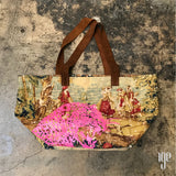 Pictorial Tapestry Leopard Print Tote