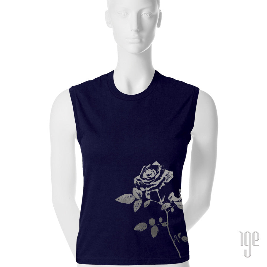 Rose Stem Muscle T-Shirt