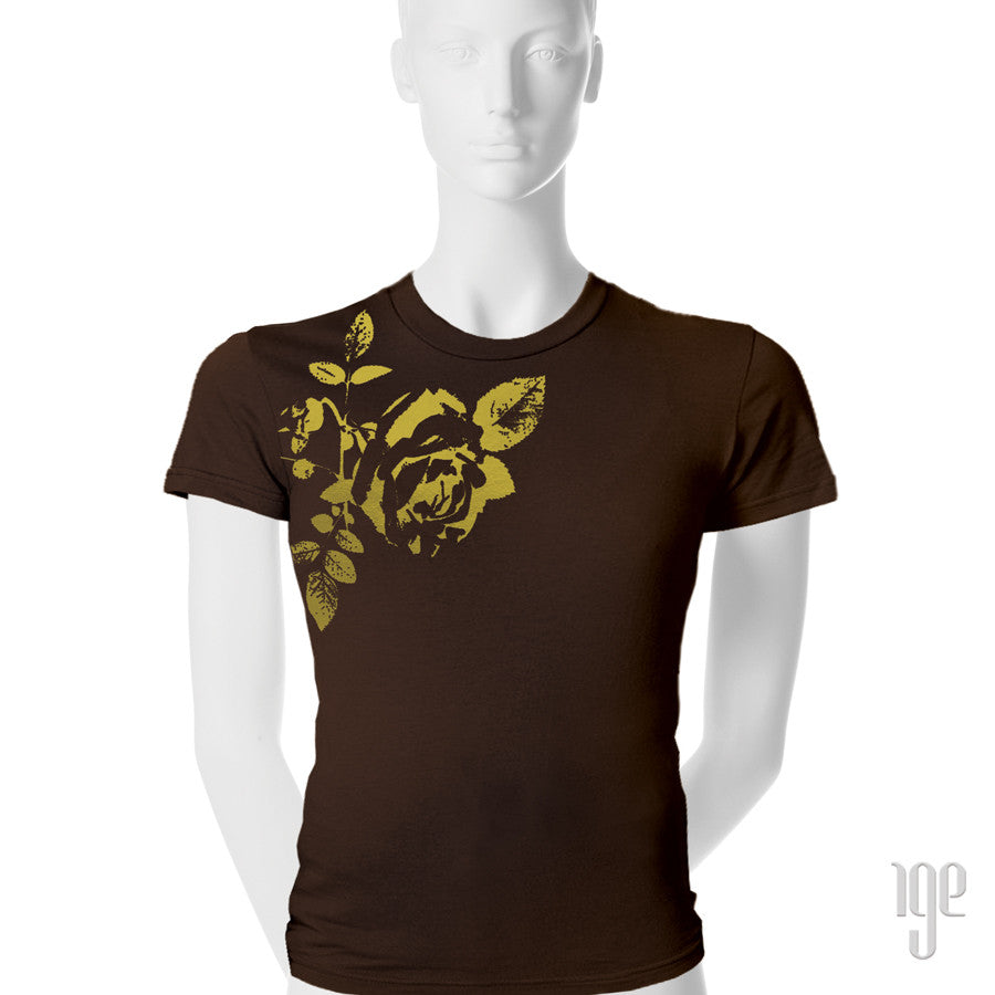 Rose Bud T-Shirt - 1 (SM) / brown-gold - 2 (MD) / brown-gold - 3 (LG) / brown-gold