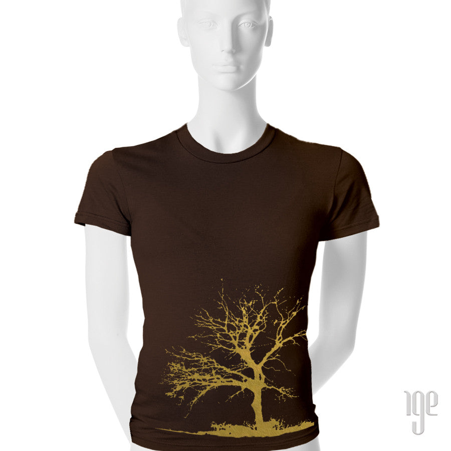 Tree T-Shirt - 1 (SM) / brown-gold - 2 (MD) / brown-gold