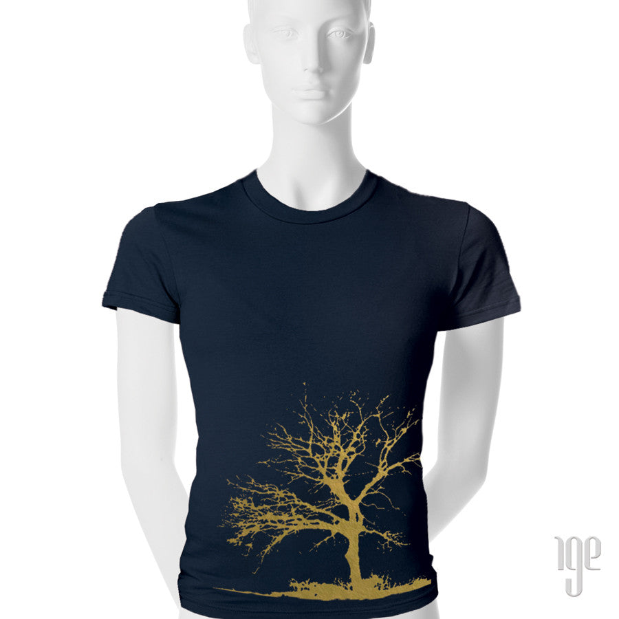 Tree T-Shirt - 1 (SM) / navy-gold - 2 (MD) / navy-gold