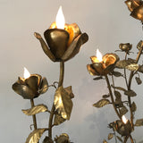 Hollywood Regency Gilt Floral Lamps | Italy