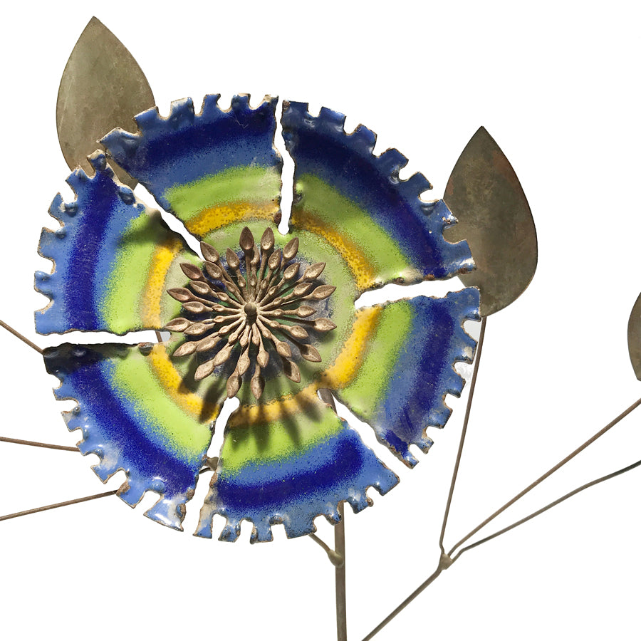 1967 C. Jere Enameled Kinetic Flower
