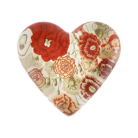 Heart Card Suits Domed Paperweight