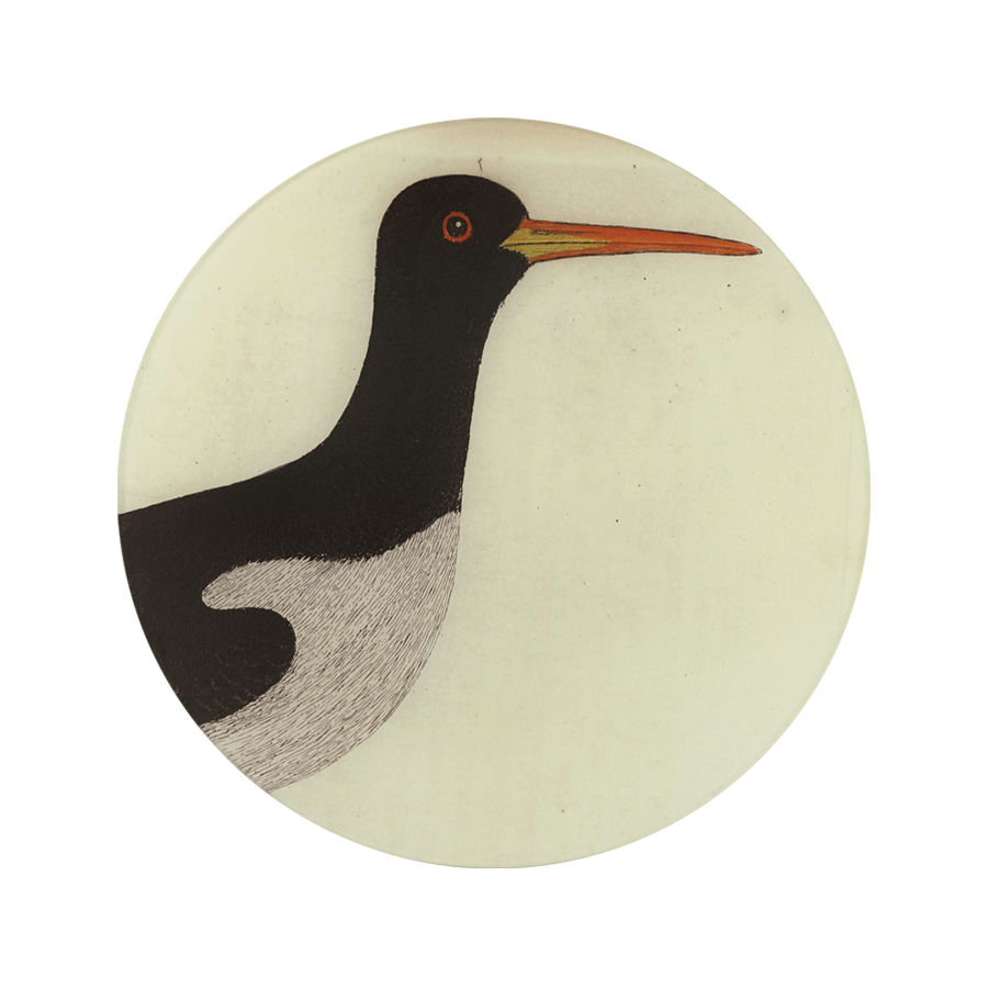 John Derian Bird Portraits Plate: Sea Pie