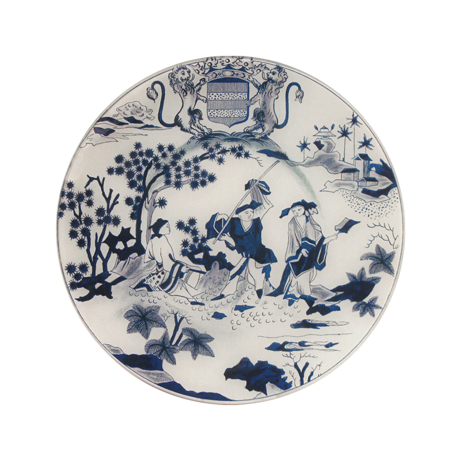 Faience Chinois Plate (Hollandaise)