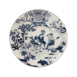 "Faience Chinois Plate (Hollandaise) - 11"" Round"