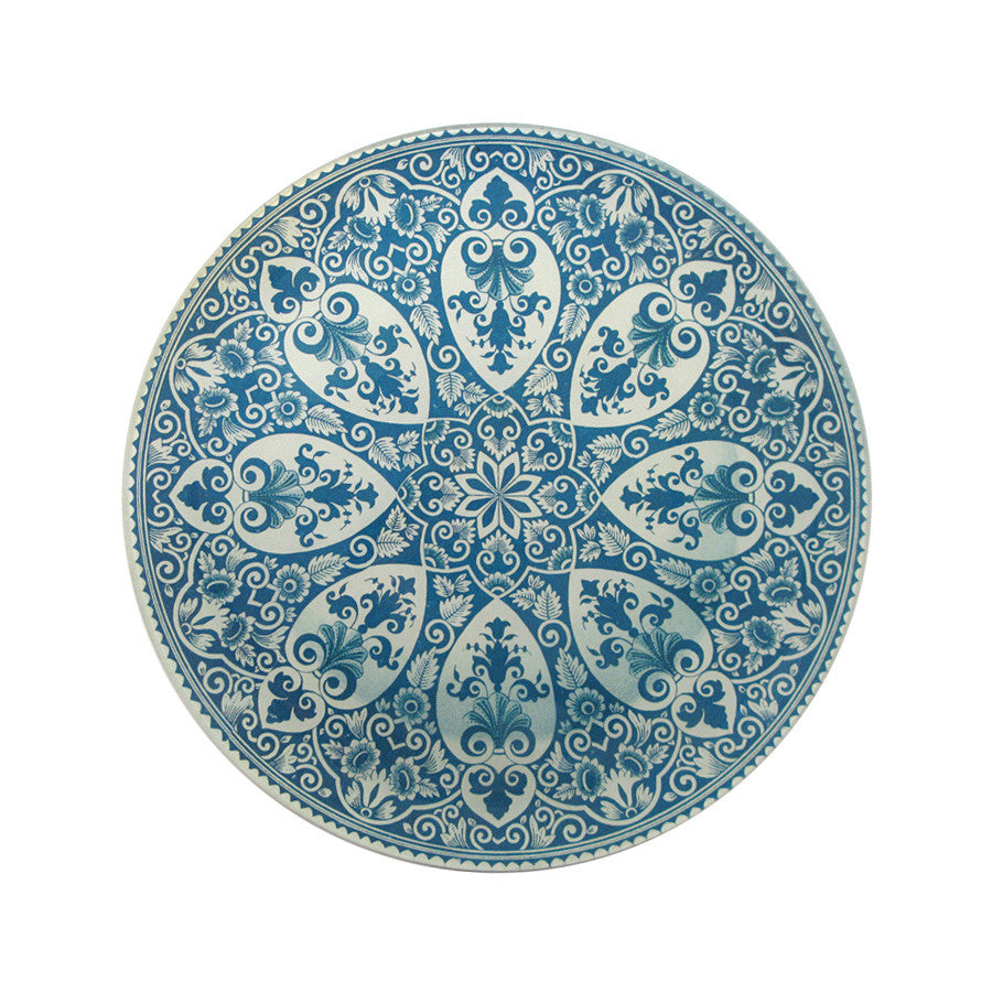 Faience Star Center Plate