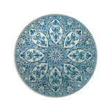 "Faience Star Center Plate - 13"" Round"