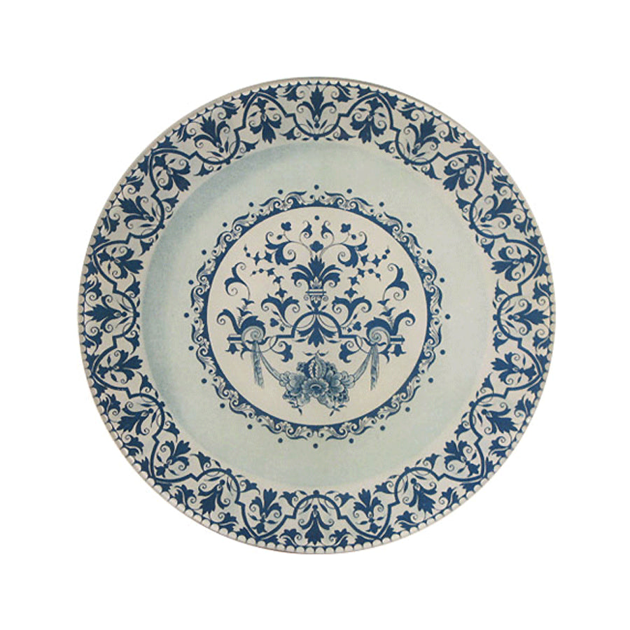 "Faience Swag Plate Plate - 10"" Round"