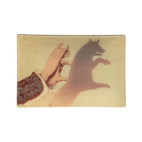 "Fox Shadow Puppet Tray - 6 x 9"" Rectangle"