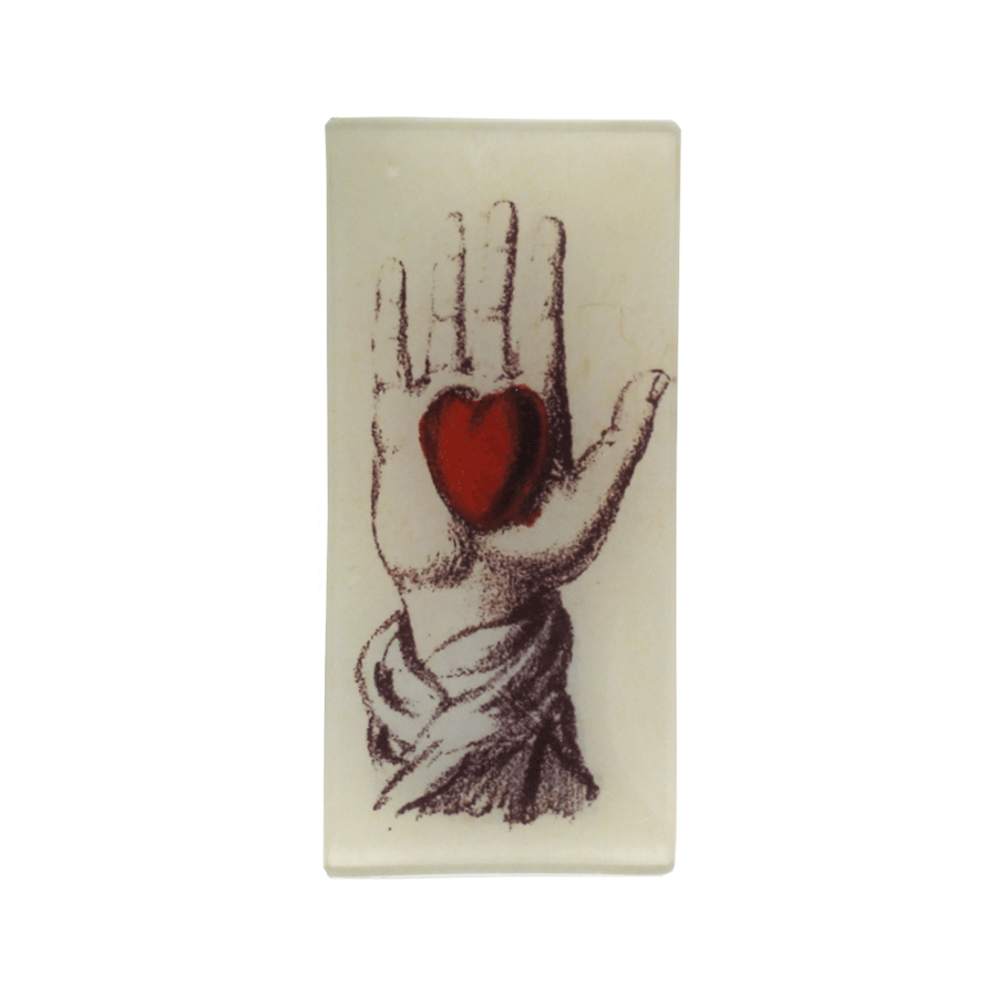 Holding Heart in Hand Tray