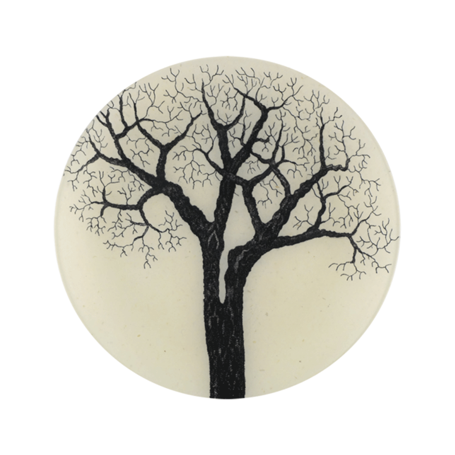Black & White Tree  Plate