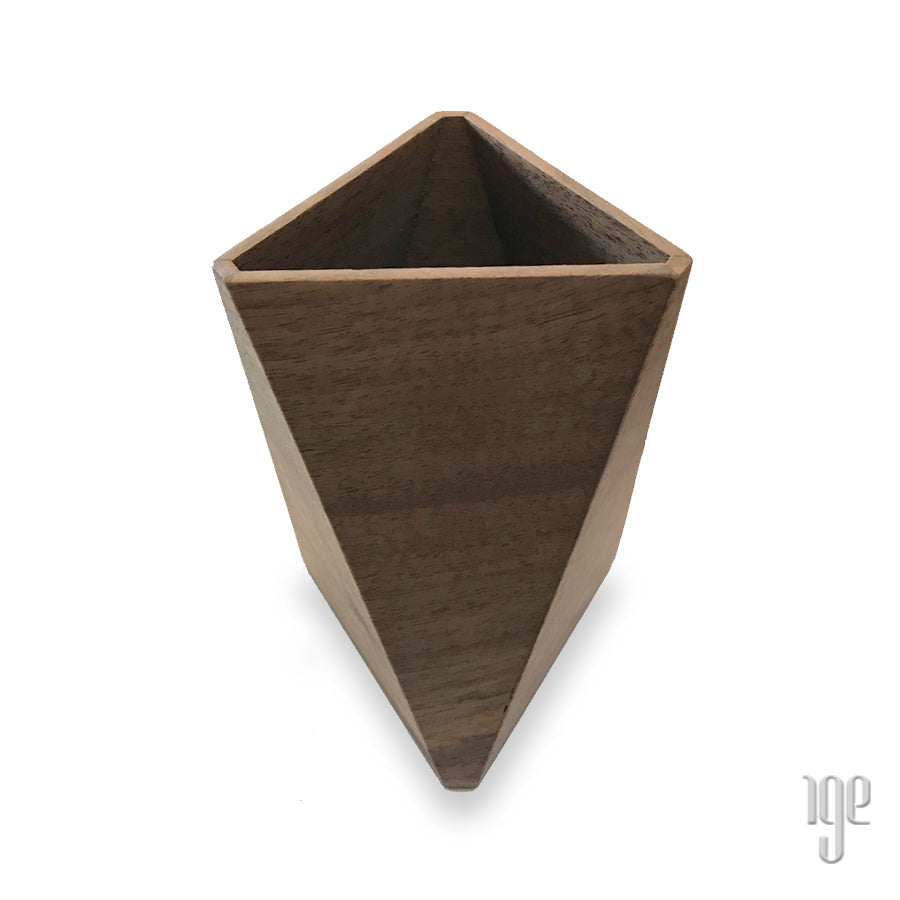 Kenichi Mizushima Faceted Walnut Holder | Triangular