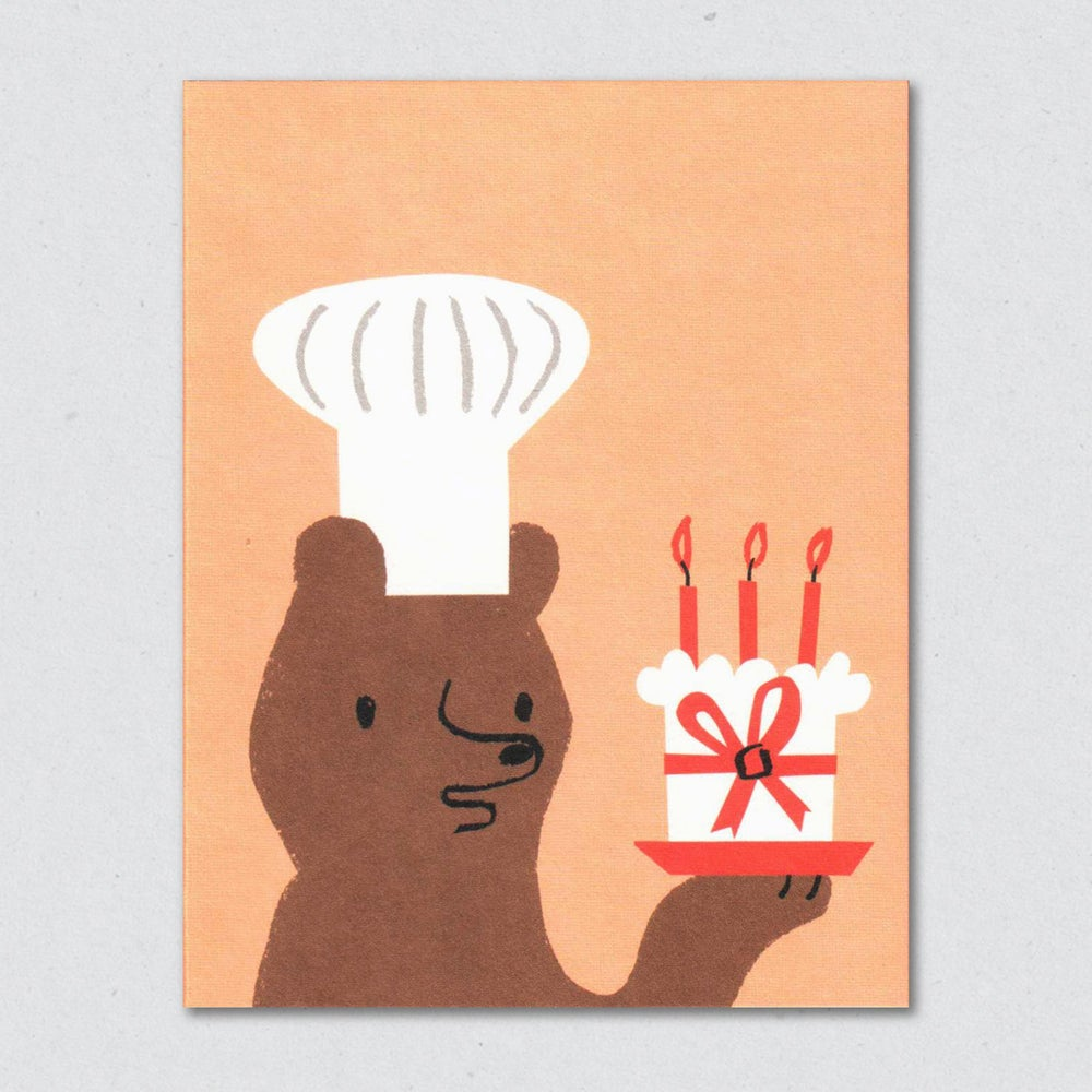 Lisa Jones | Baker Bear Greeting Card