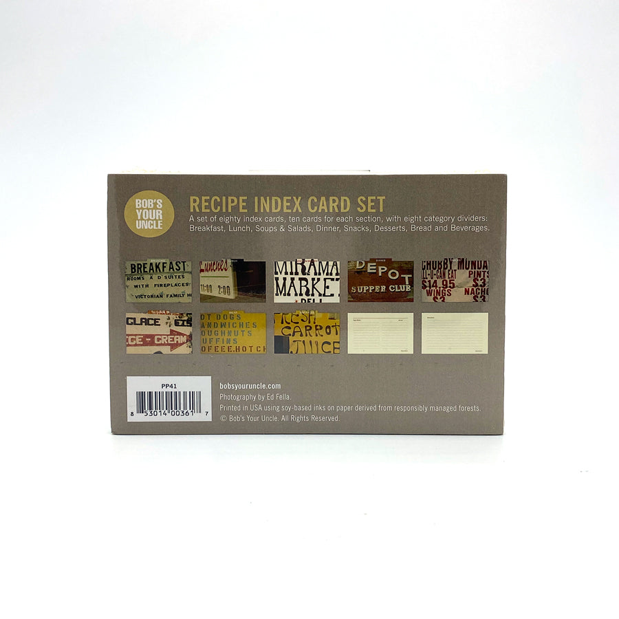 Let's Eat Recipe Box | Index Card Set