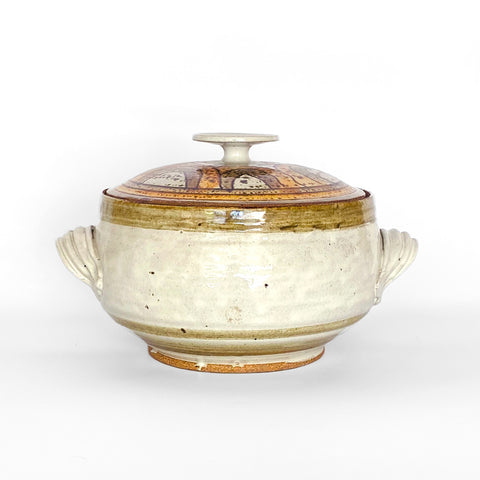 Vintage Lidded Stoneware Stovetop Steamer | One of a Kind