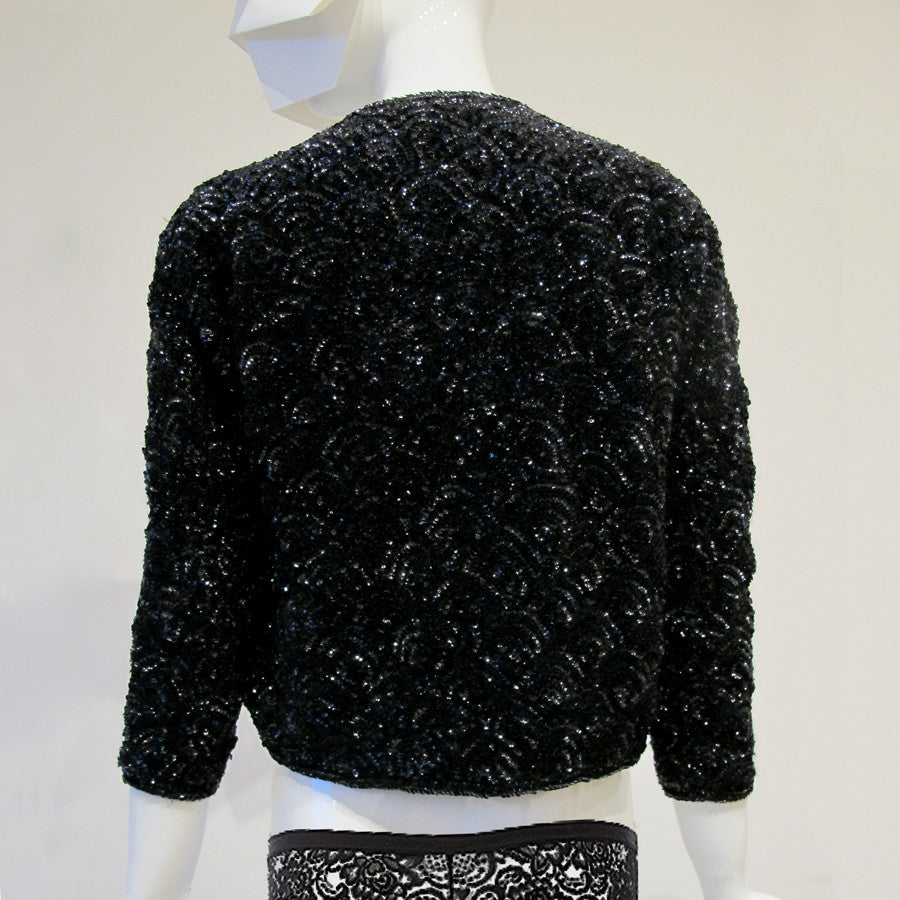 Vintage Embellished Sequin Cardigan