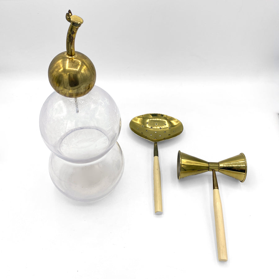 MCM Italian Brass Cocktail Set | Set of 3