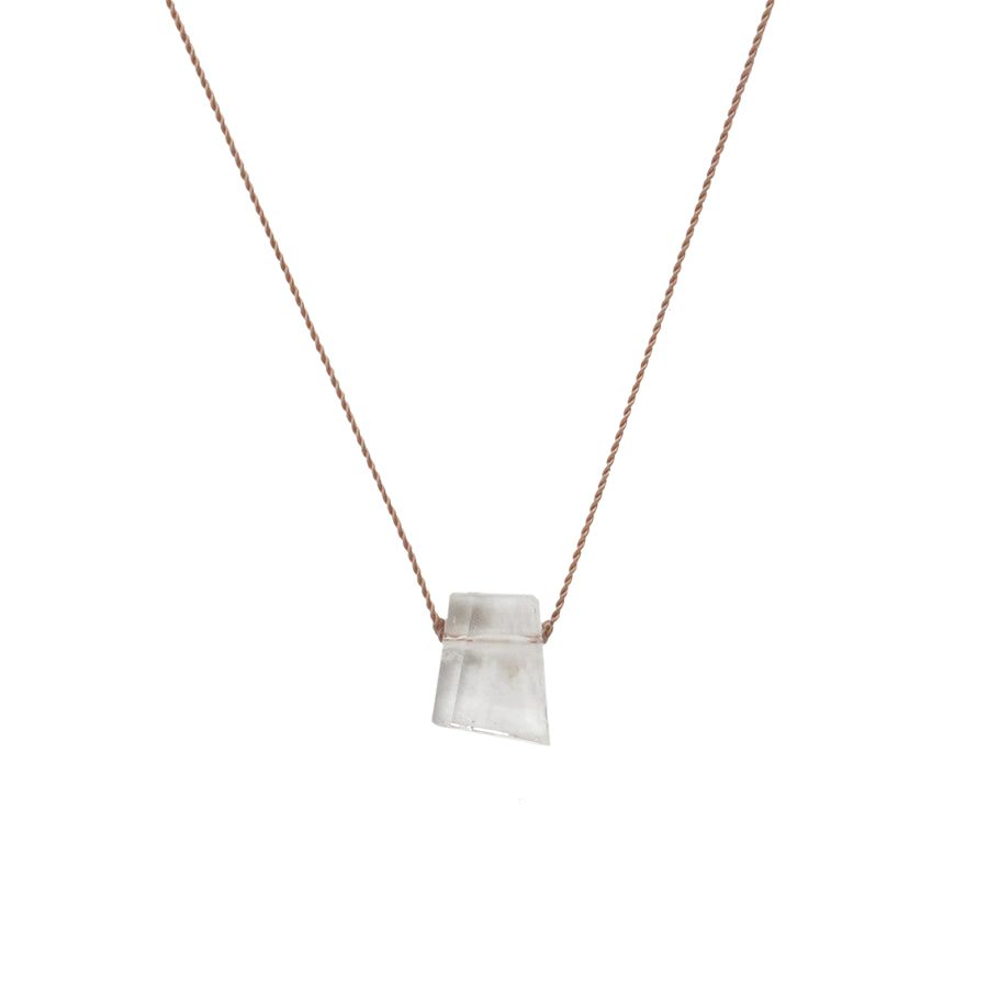 Kunzite Asymmetrical Stone Necklace
