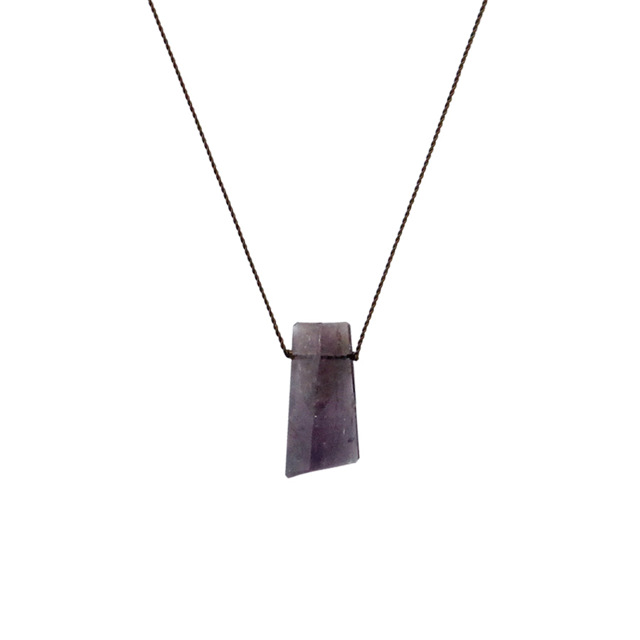 Asymmetrical Faceted Lavender Tourmaline Necklace