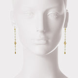Pearl and Diamond 18kt Gold Dangle Earrings