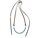 Marisa Mason Laurel Canyon Brass & Turquoise Bead Necklace