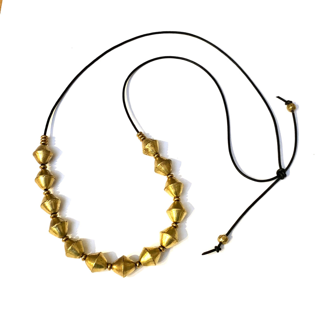 Marisa Mason Nile Brass Bead Necklace