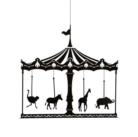 Merry Go Round Mobile - black paper