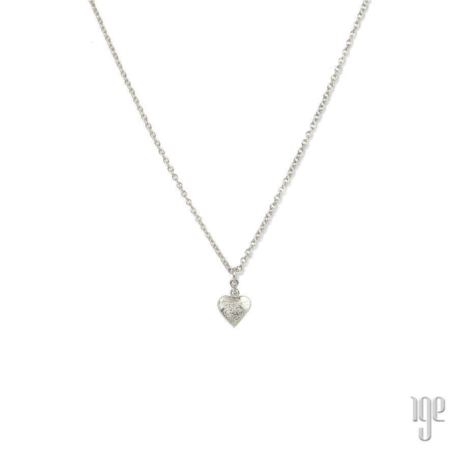 Mizuki Heart and Diamond Pendant Necklace