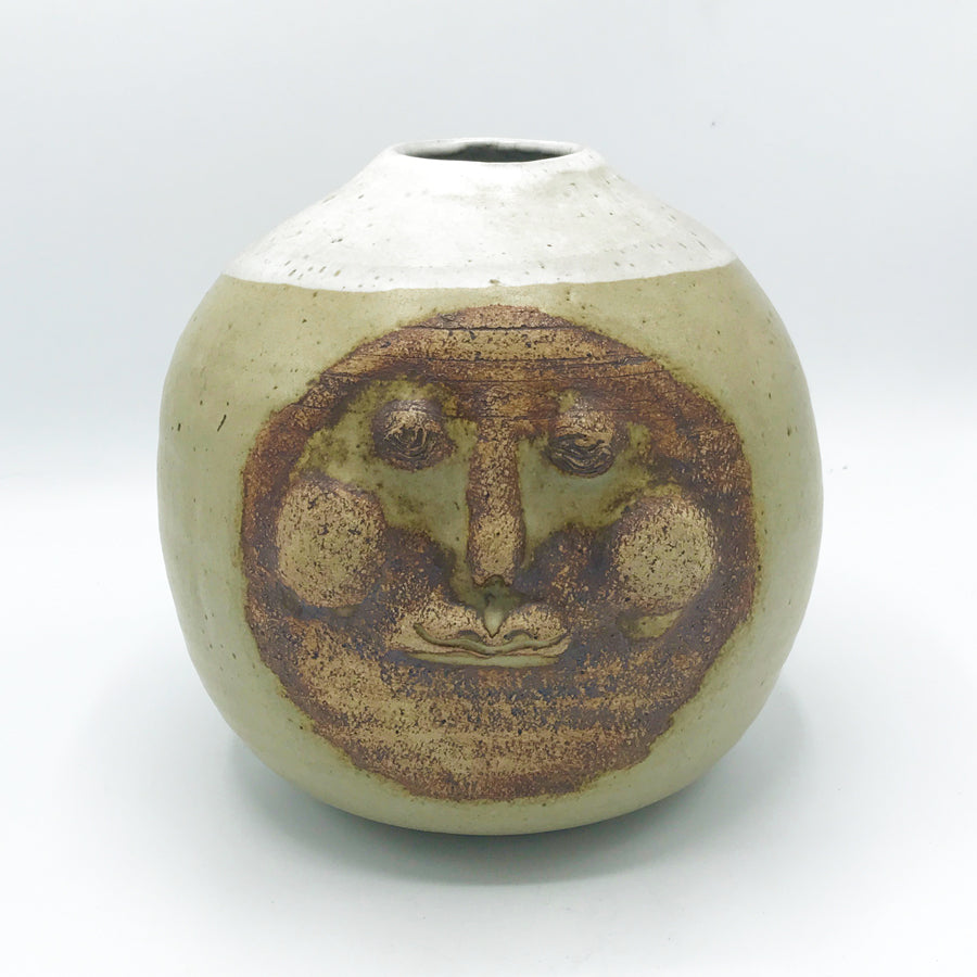 Vintage Full Moon Face Vase