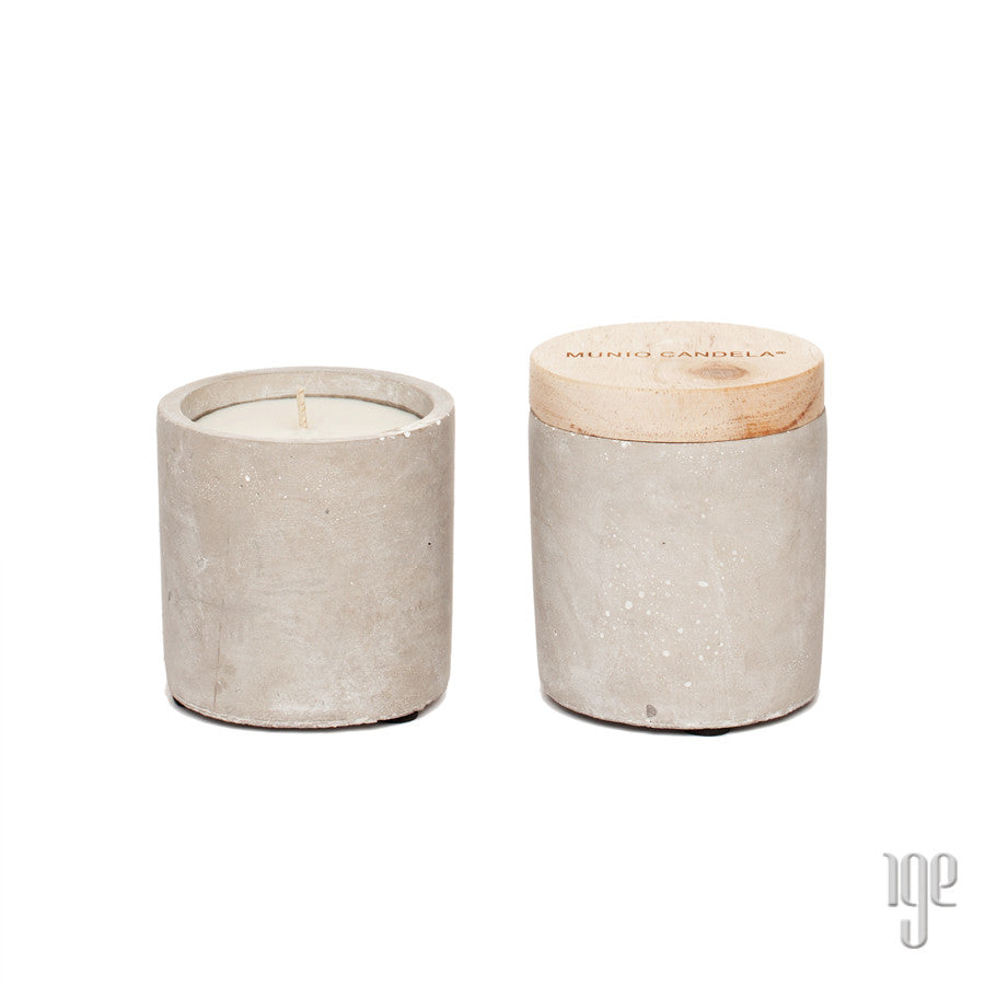 Soy Wax Cement Cylinder Candle