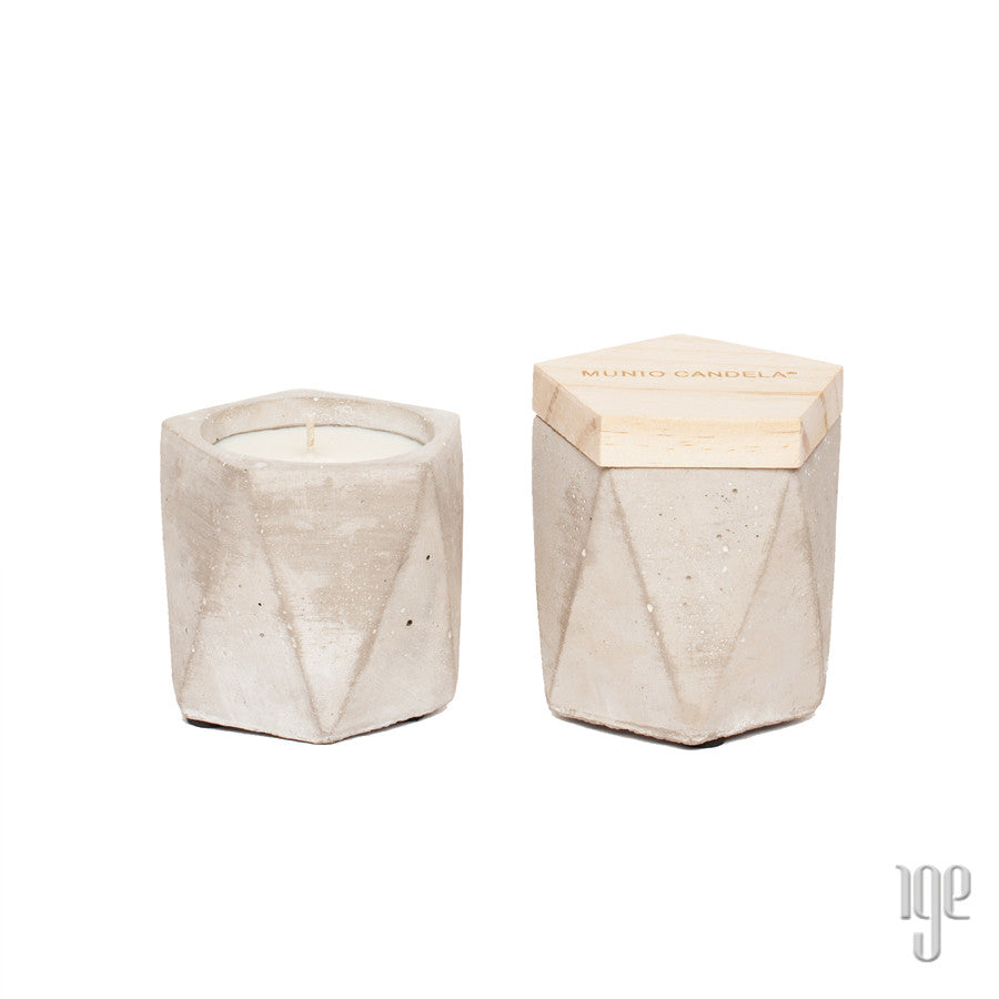 Soy Wax Cement Pentagon Candle