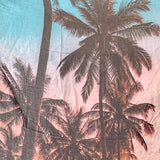 Picturesque Printed Scarf | Palm Trees | Italy