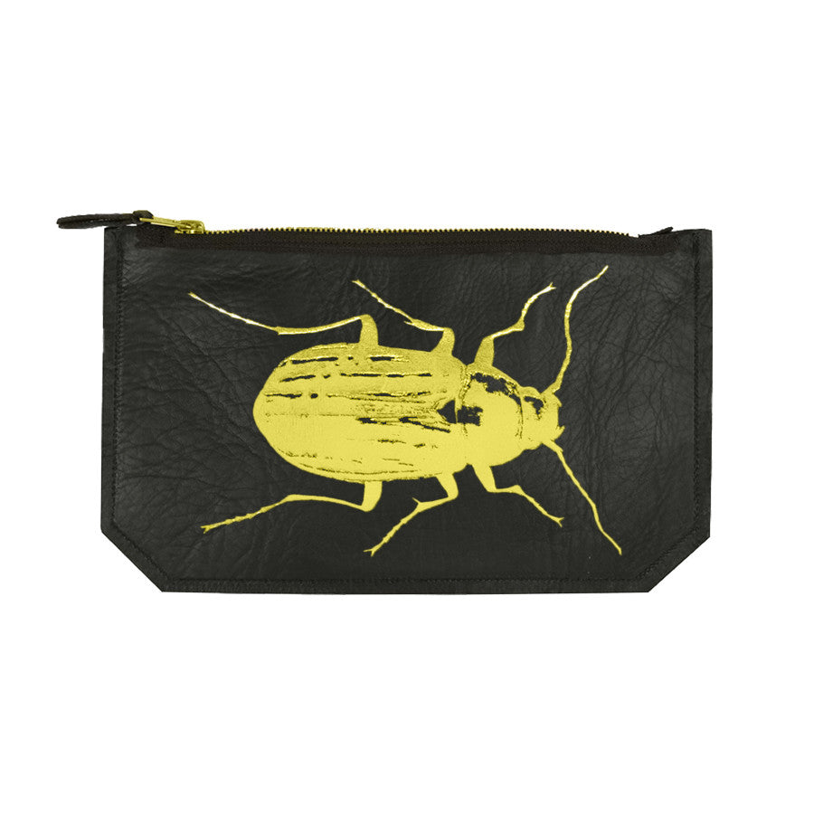 leather beetle pouch