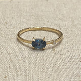 Petite Baleine | Wink Spinel & Diamond Ring | Navy