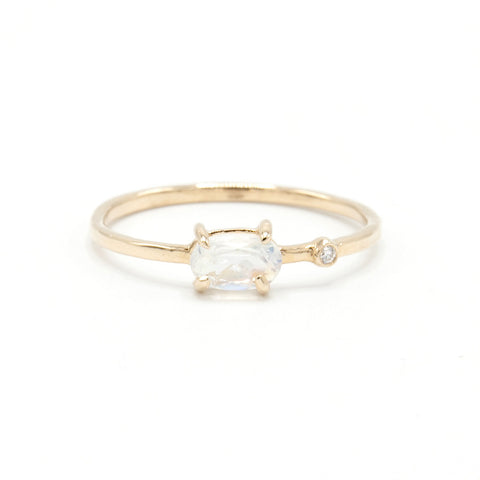 Marion Cage | Geo Spinel Rose Gold Stacking Ring | One of a kind