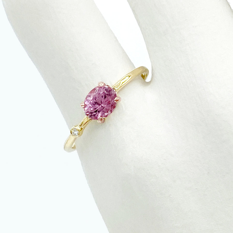 Petite Baleine | Wink Orchid Spinel & Diamond Ring