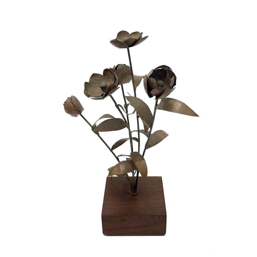 Vintage Petite Copper Posie Flower Sculpture