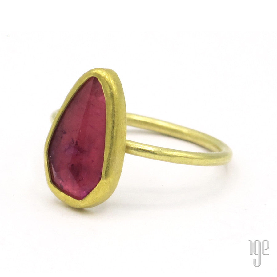 Petra Class Large Rose Cut Pink Tourmaline Ring