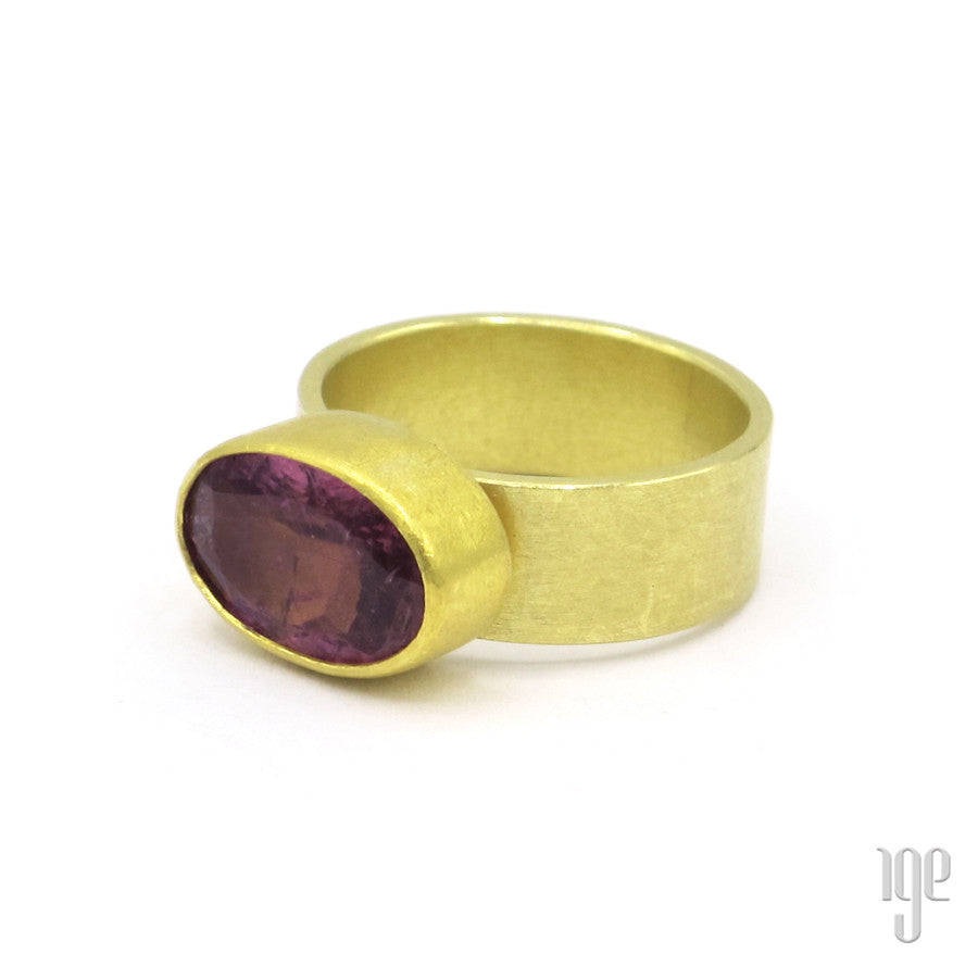 Petra Class Large Oval Tourmaline Ring