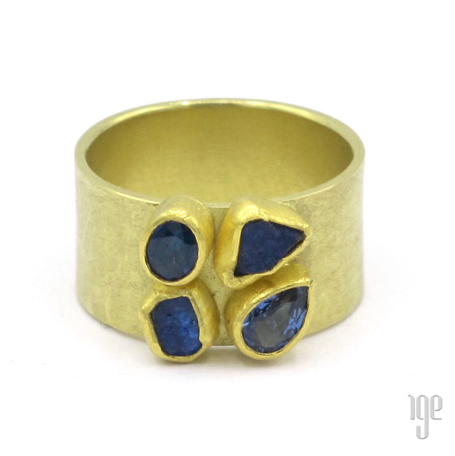 Petra Class One of a Kind Rough Cut Sapphire Ring