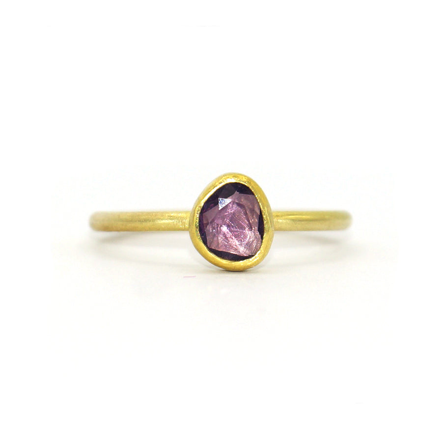 Petra Class One of a Kind Abstract Plum Sapphire Ring