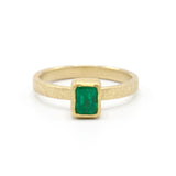 Petra Class | Faceted Rectangle Emerald Ring